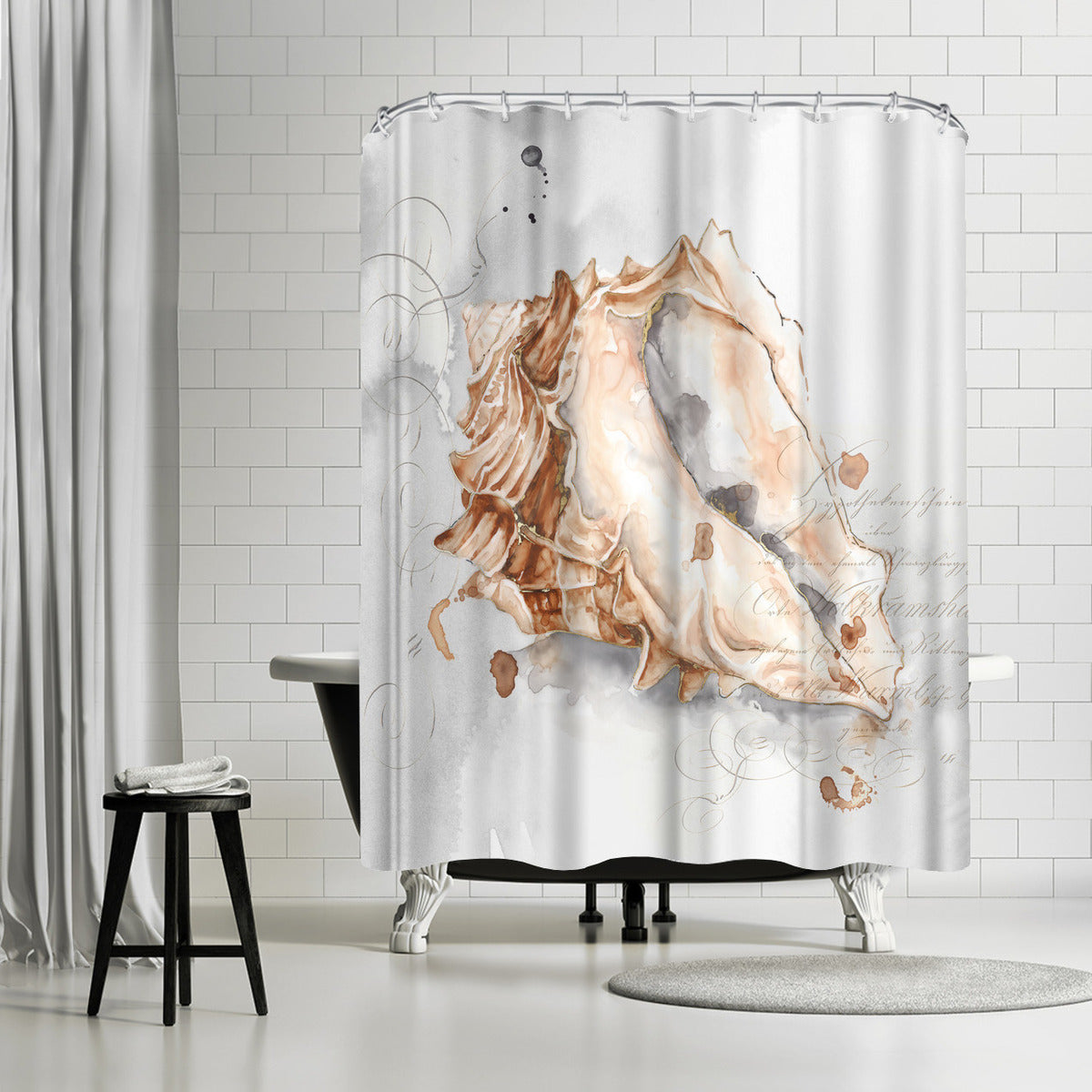 Blush Shell Iii by PI Creative Art Shower Curtain - Shower Curtain - Americanflat