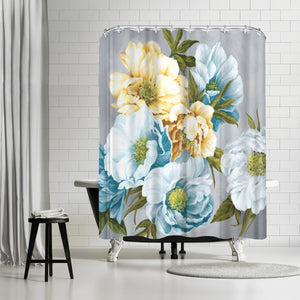Chic Peony Iii by PI Creative Art Shower Curtain