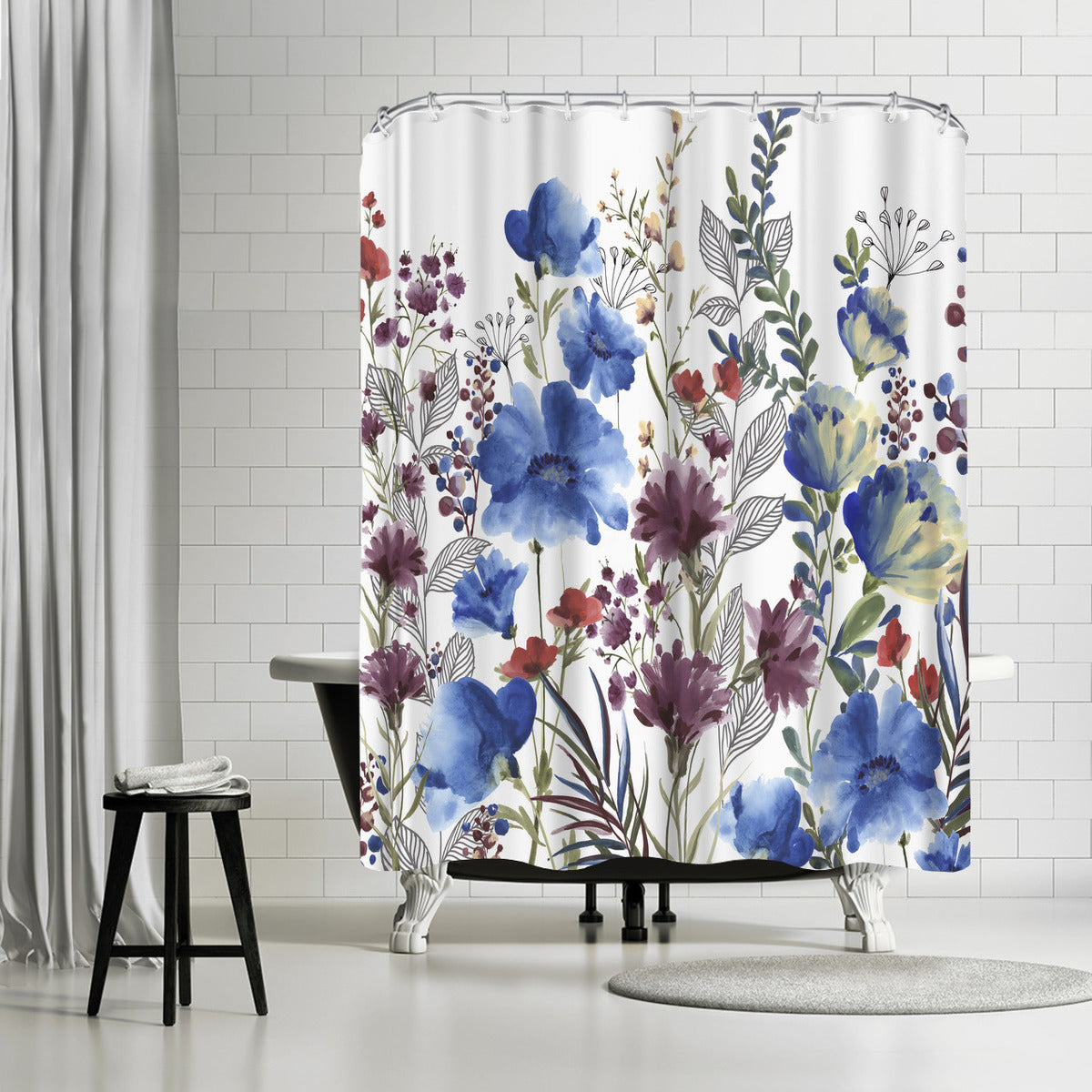 Willow Herb Ii by PI Creative Art Shower Curtain -  - Americanflat