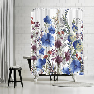 Willow Herb Ii by PI Creative Art Shower Curtain