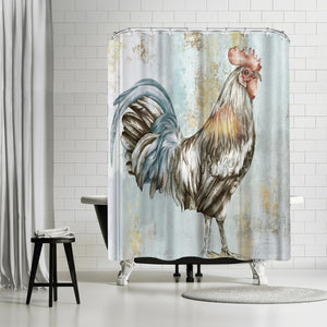 Crock A Doodle Do I by PI Creative Art Shower Curtain