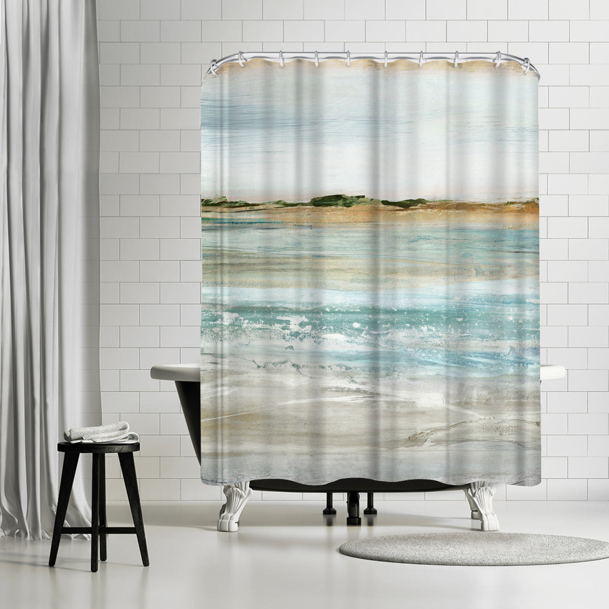 Retrospective I by PI Creative Art Shower Curtain -  - Americanflat