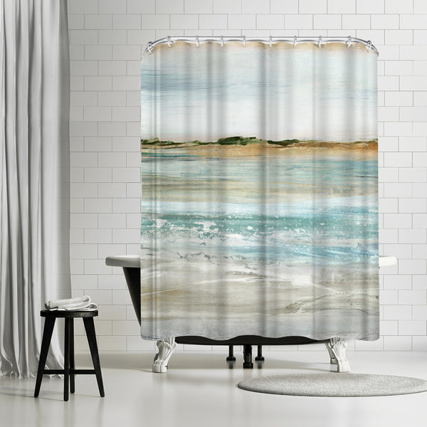 Retrospective I by PI Creative Art Shower Curtain