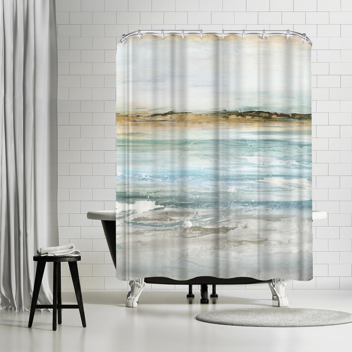 Retrospective Ii by PI Creative Art Shower Curtain -  - Americanflat