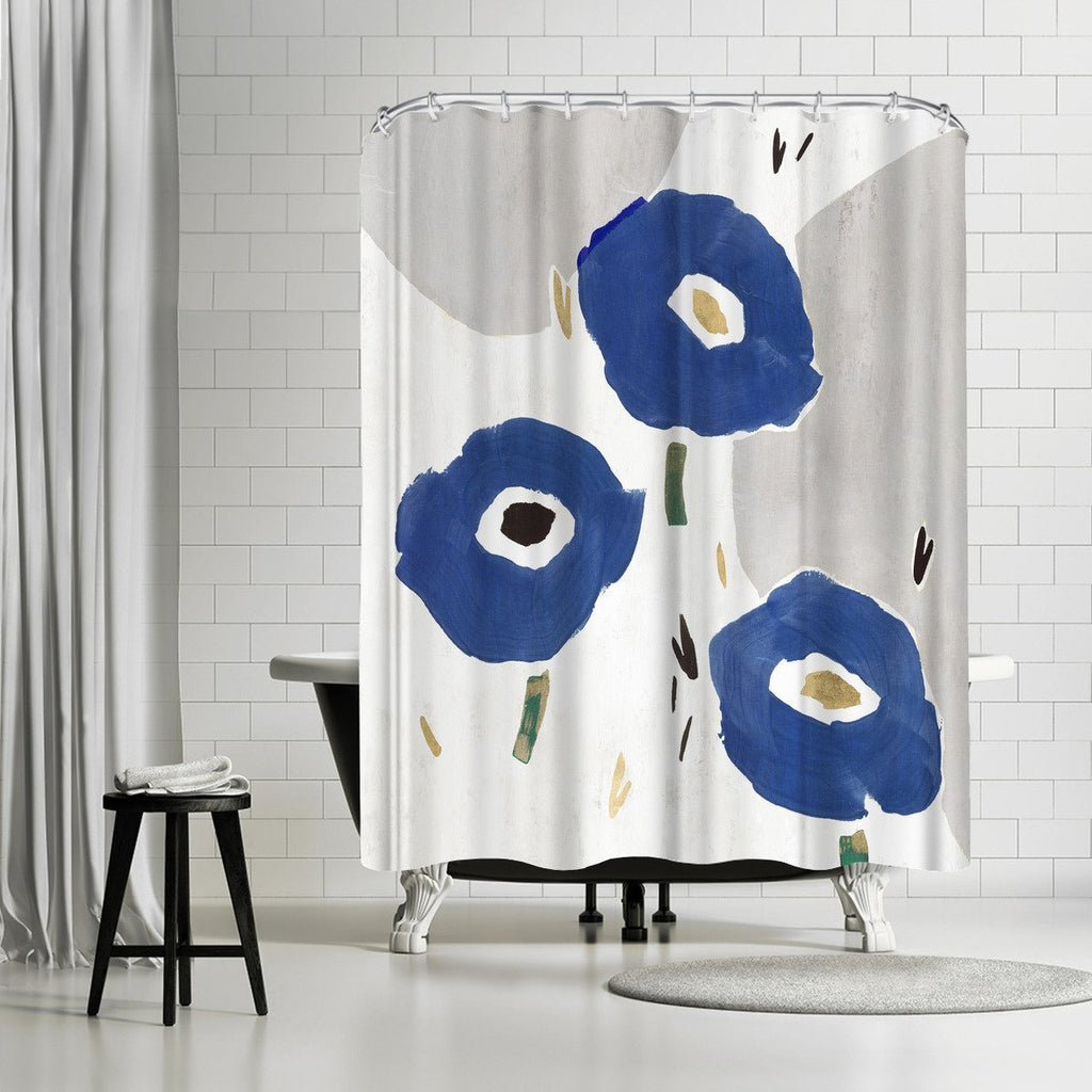 Blue Cluster Ii By Pi Creative Art Shower Curtain Americanflat