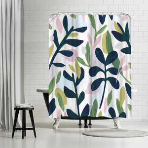 Into The Forest I by PI Creative Art Shower Curtain