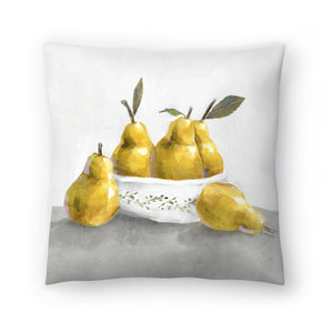 Pears by PI Creative Art Decorative Pillow