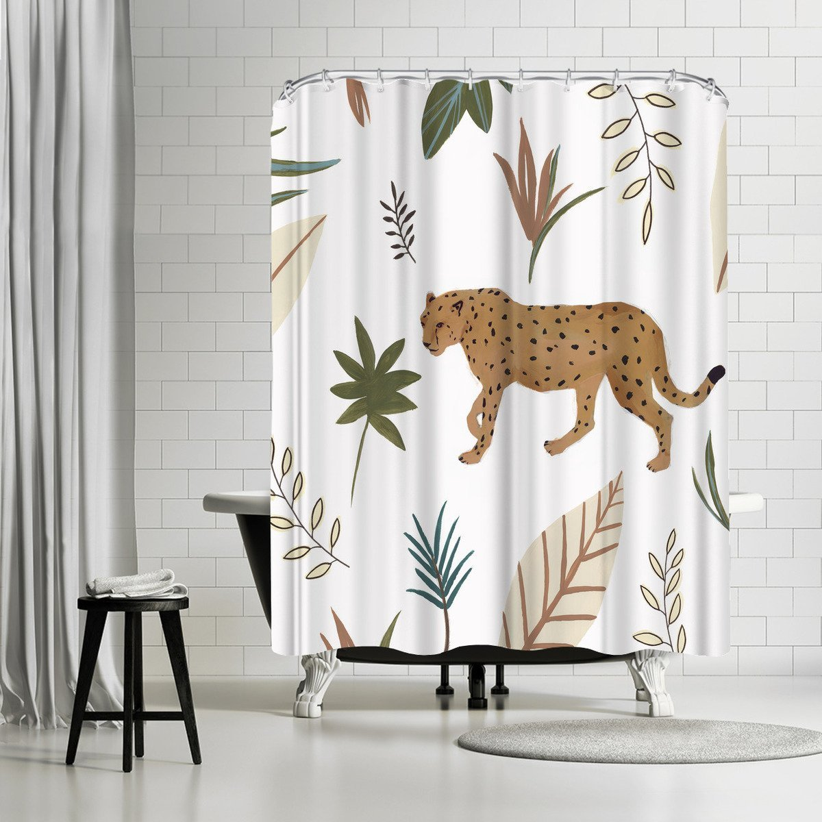 African Cheetah Ii by PI Creative Art Shower Curtain - Shower Curtain - Americanflat