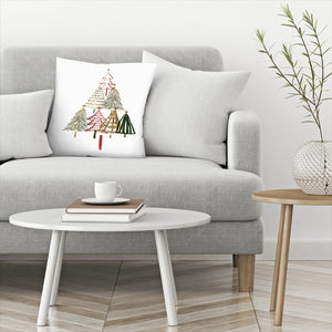 Pine Trees I by PI Creative Art Decorative Pillow