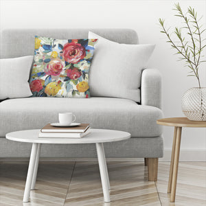 Red Roses by PI Creative Art Decorative Pillow