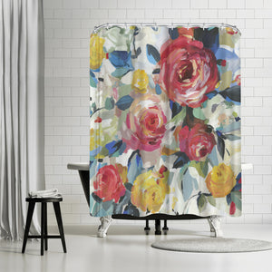 Red Roses by PI Creative Art Shower Curtain