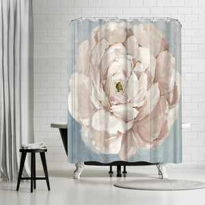 Pink Flower by PI Creative Art Shower Curtain