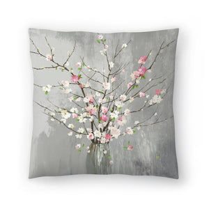 Delicate Pink Blooms by PI Creative Art Decorative Pillow