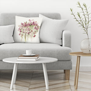 Pink Spring Garden by PI Creative Art Decorative Pillow