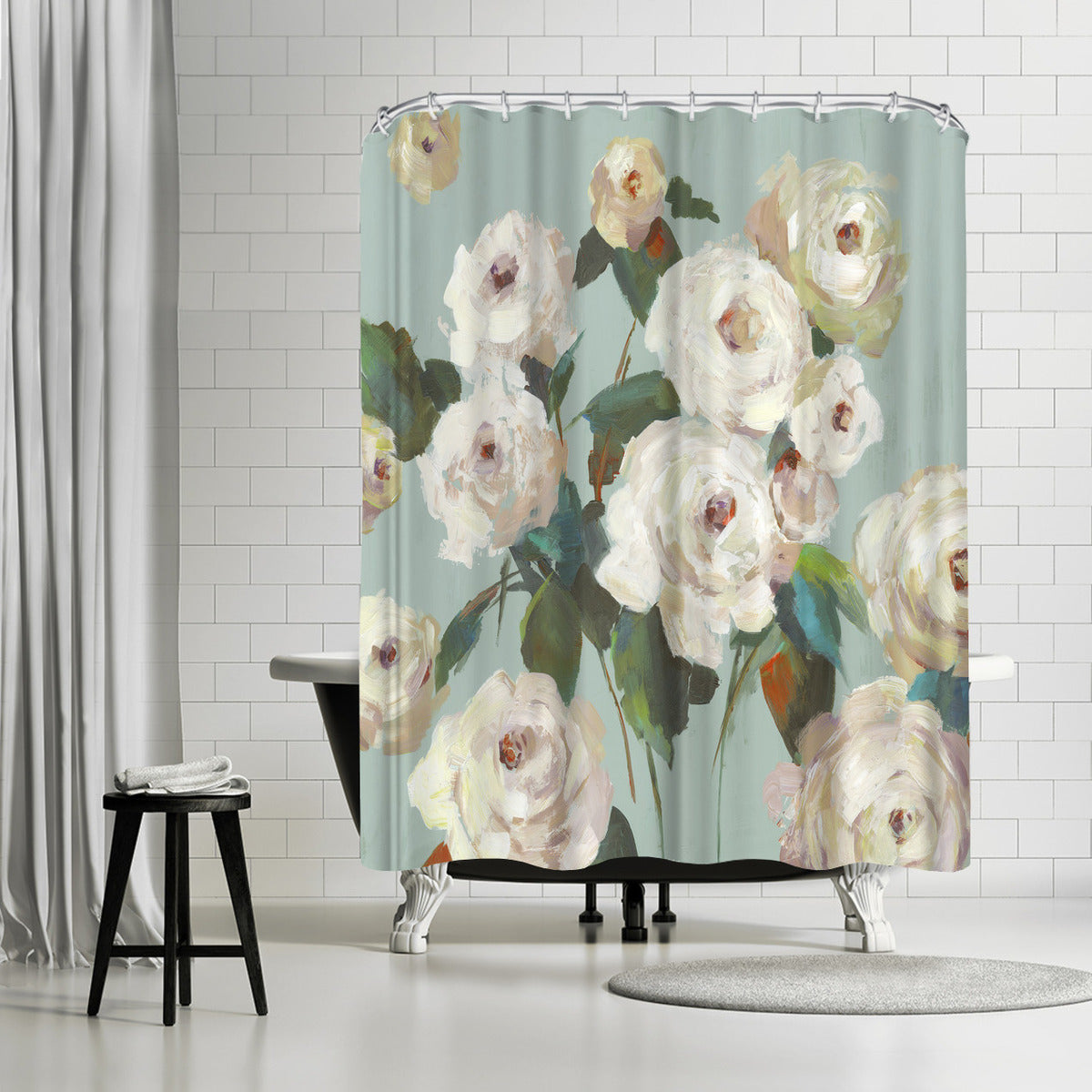 La Rosa by PI Creative Art Shower Curtain