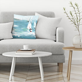 Gone Sailing by PI Creative Art Decorative Pillow