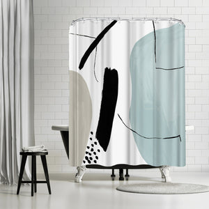 Integral Ii by PI Creative Art Shower Curtain