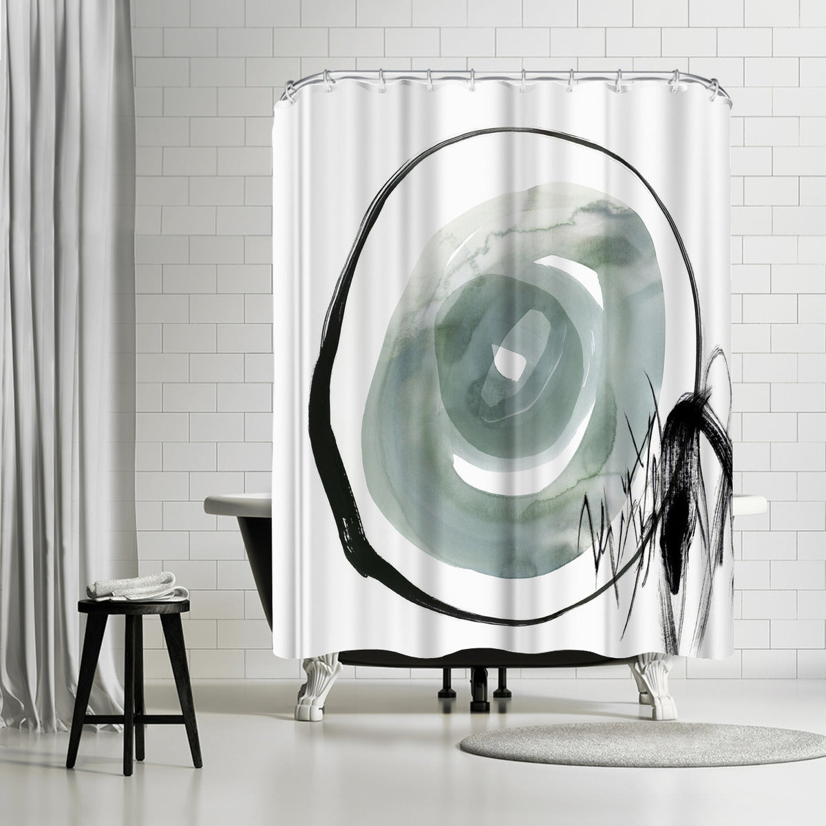 Perforation Ii by PI Creative Art Shower Curtain - Shower Curtain - Americanflat
