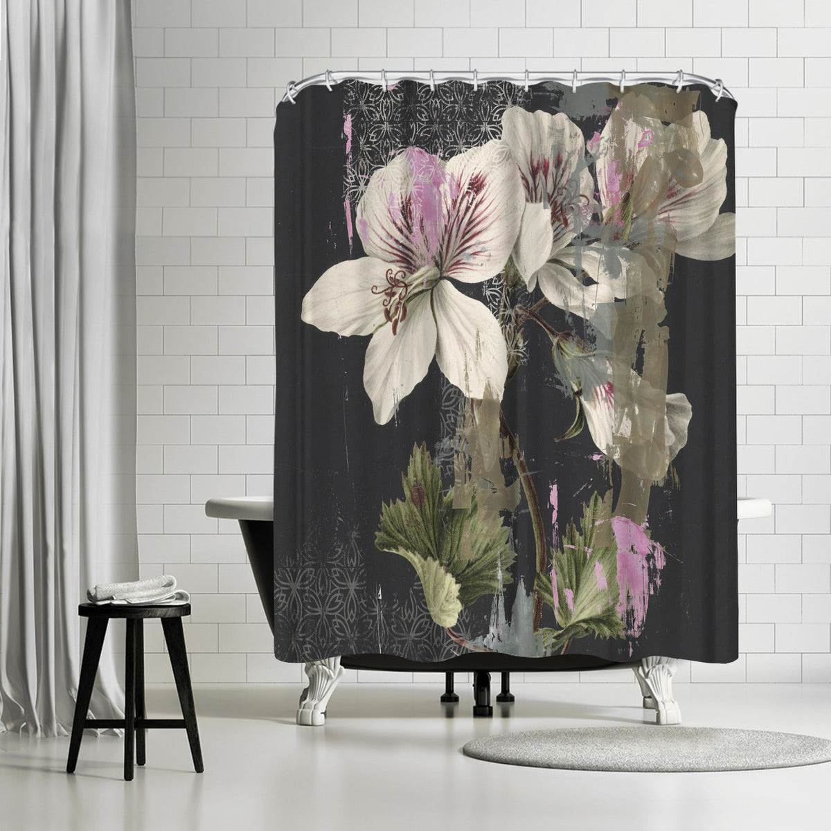Papercut Floral by PI Creative Art Shower Curtain - Shower Curtain - Americanflat
