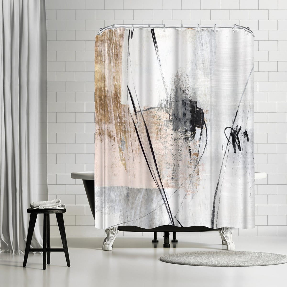 Fortnight Ii by PI Creative Art Shower Curtain -  - Americanflat