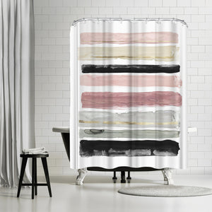 Rothko'S Stripes I by PI Creative Art Shower Curtain