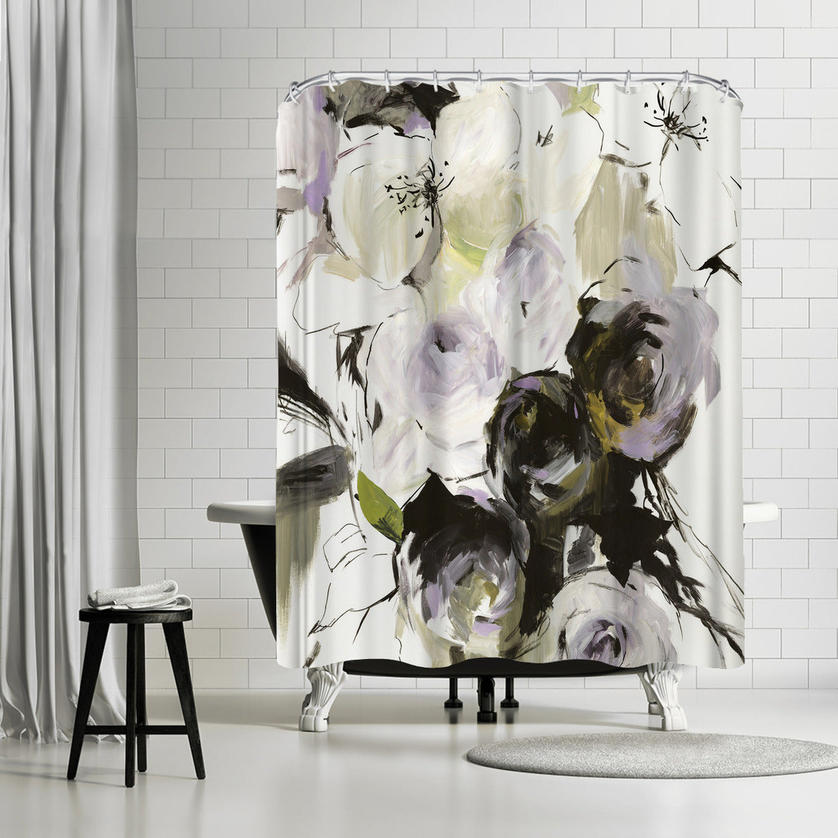 Simple Bouquet I by PI Creative Art Shower Curtain -  - Americanflat