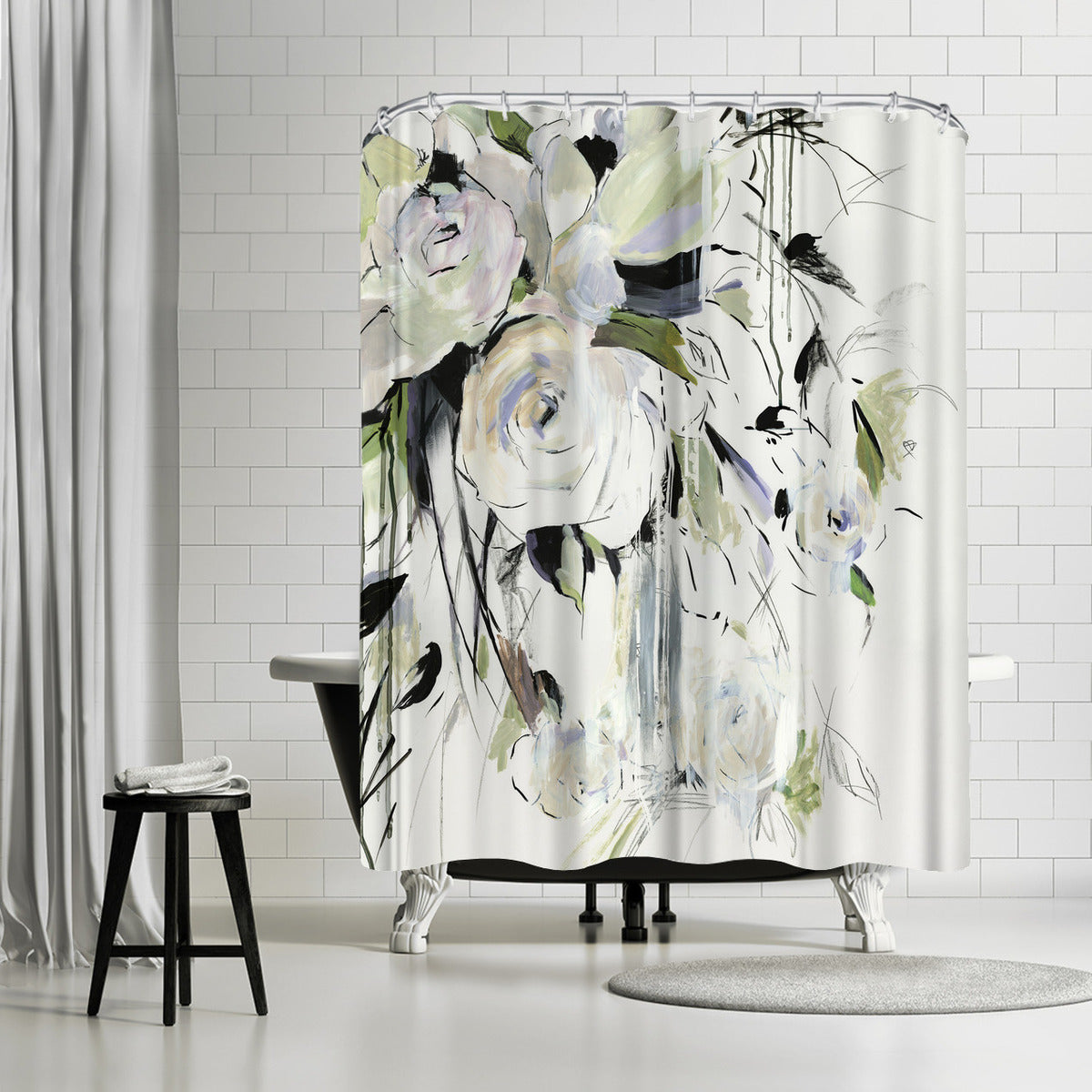 Simple Bouquet Ii by PI Creative Art Shower Curtain -  - Americanflat