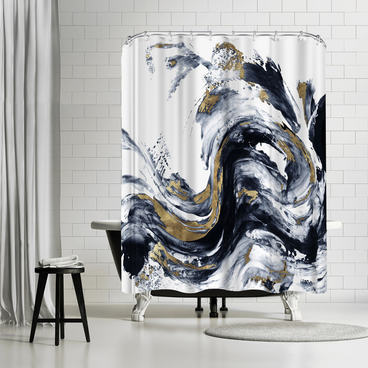 Faded Memories I by PI Creative Art Shower Curtain - Americanflat