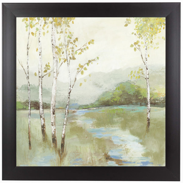 Calm River by PI Creative Art Framed Print