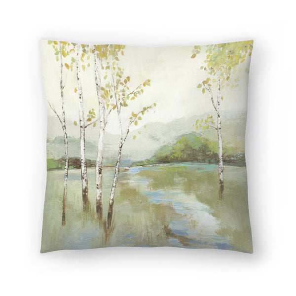 Calm River by PI Creative Art Decorative Pillow