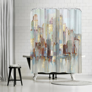 City Escape I by PI Creative Art Shower Curtain