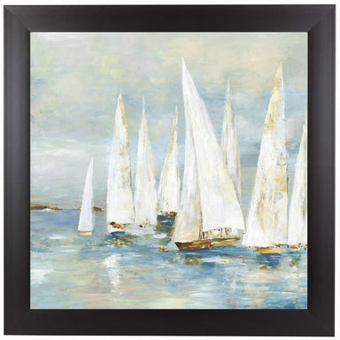 White Sailboats by PI Creative Art Framed Print - Wall Art - Americanflat