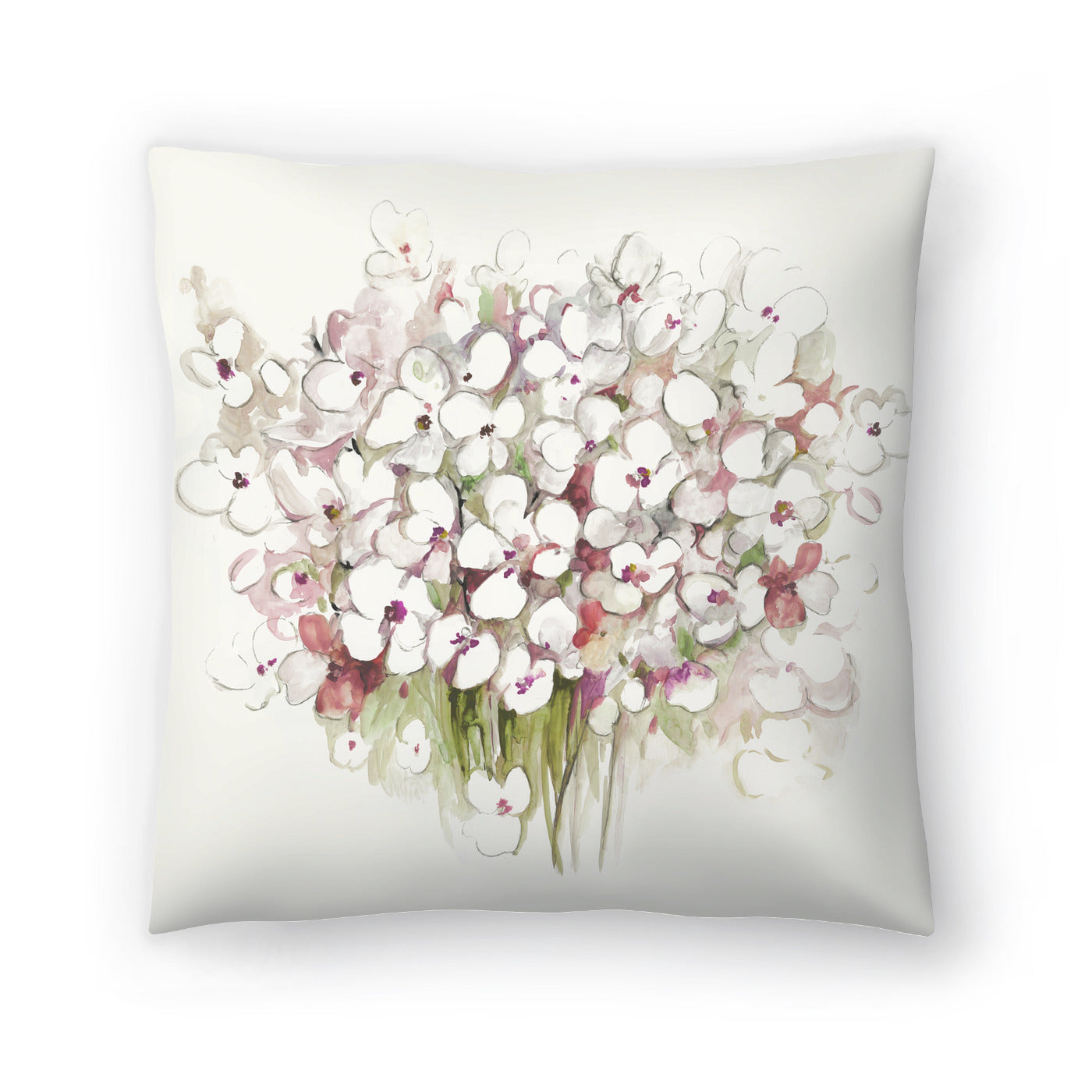 White Bouquet by PI Creative Art Decorative Pillow - Decorative Pillow - Americanflat