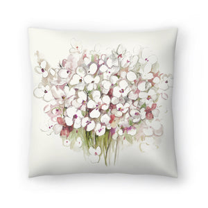White Bouquet by PI Creative Art Decorative Pillow