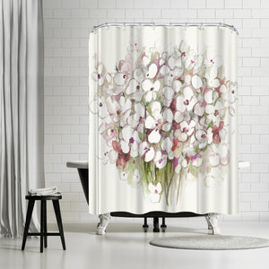 White Bouquet by PI Creative Art Shower Curtain
