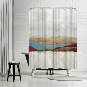 Calmness by PI Creative Art Shower Curtain