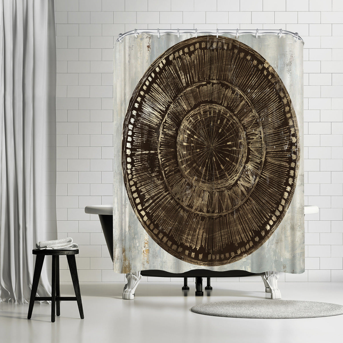 Zulu Gold I by PI Creative Art Shower Curtain - Shower Curtain - Americanflat