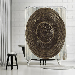 Zulu Gold Ii by PI Creative Art Shower Curtain