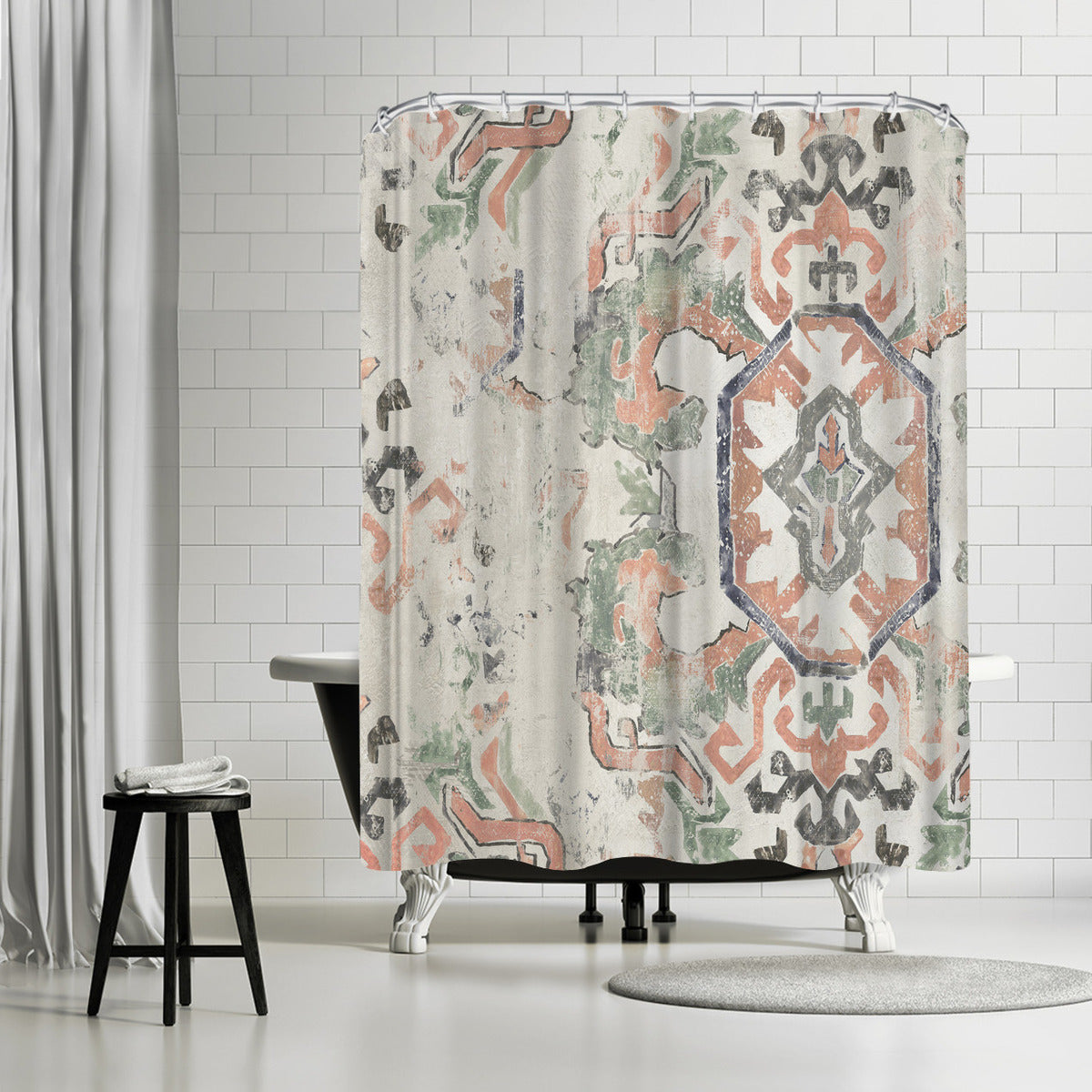 Oriental Rug Ii by PI Creative Art Shower Curtain -  - Americanflat