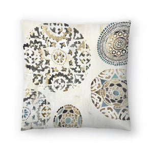 Rounded I by PI Creative Art Decorative Pillow