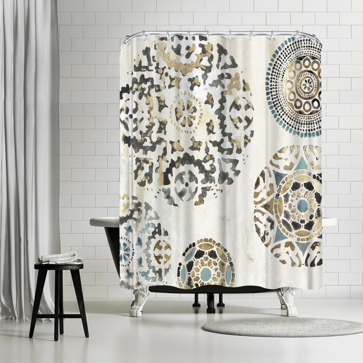 Rounded I by PI Creative Art Shower Curtain -  - Americanflat