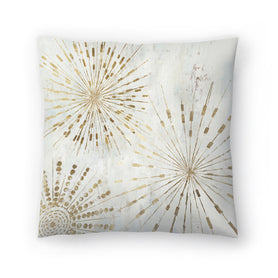 Golden Stars I by PI Creative Art Decorative Pillow