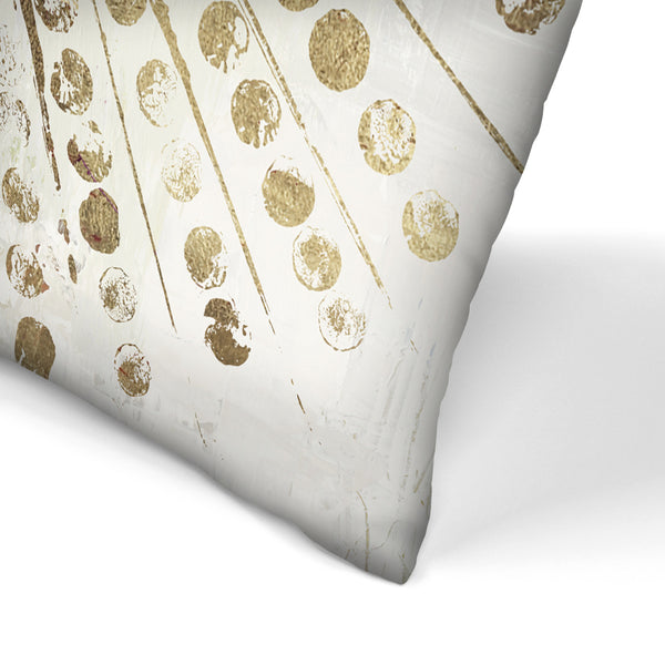 Golden Stars Ii by PI Creative Art Decorative Pillow