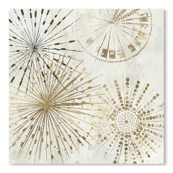 Golden Stars Ii by PI Creative Art  Print