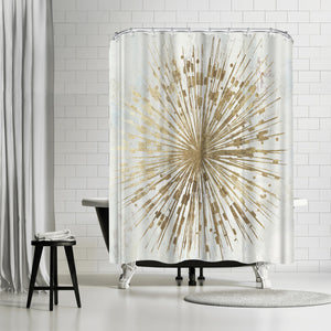 Golden Star by PI Creative Art Shower Curtain