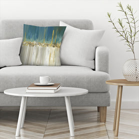 Shine A Light Ii by PI Creative Art Decorative Pillow