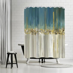 Shine A Light Ii by PI Creative Art Shower Curtain