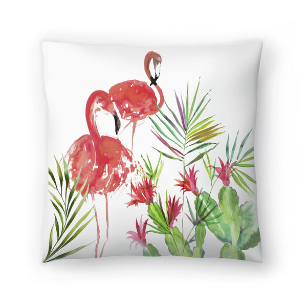 Flamingo Pairing by PI Creative Art Decorative Pillow