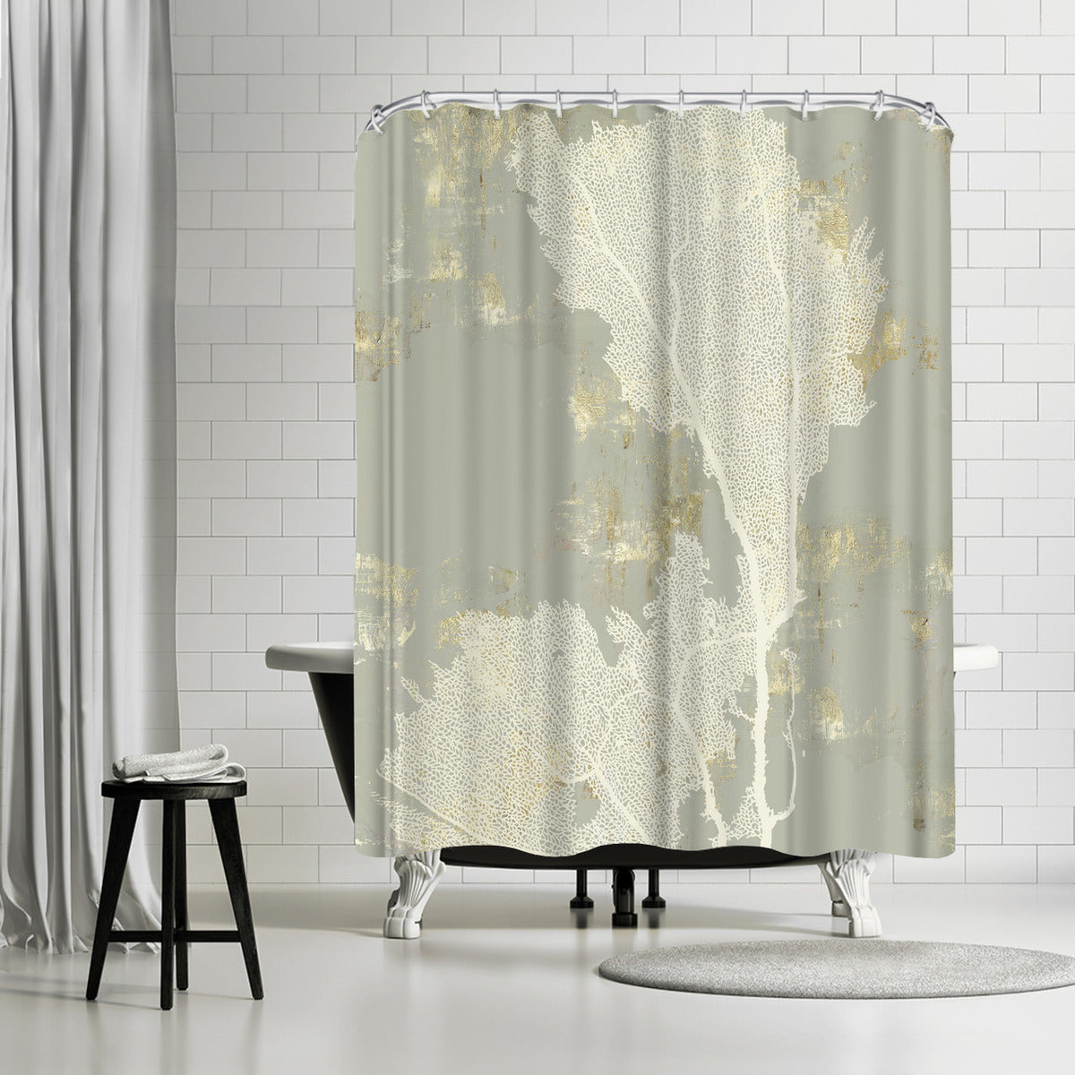 Sea Coral Ii by PI Creative Art Shower Curtain - Shower Curtain - Americanflat