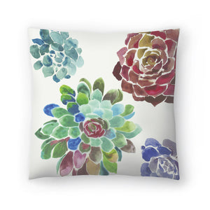 Water Succulents I by PI Creative Art Decorative Pillow